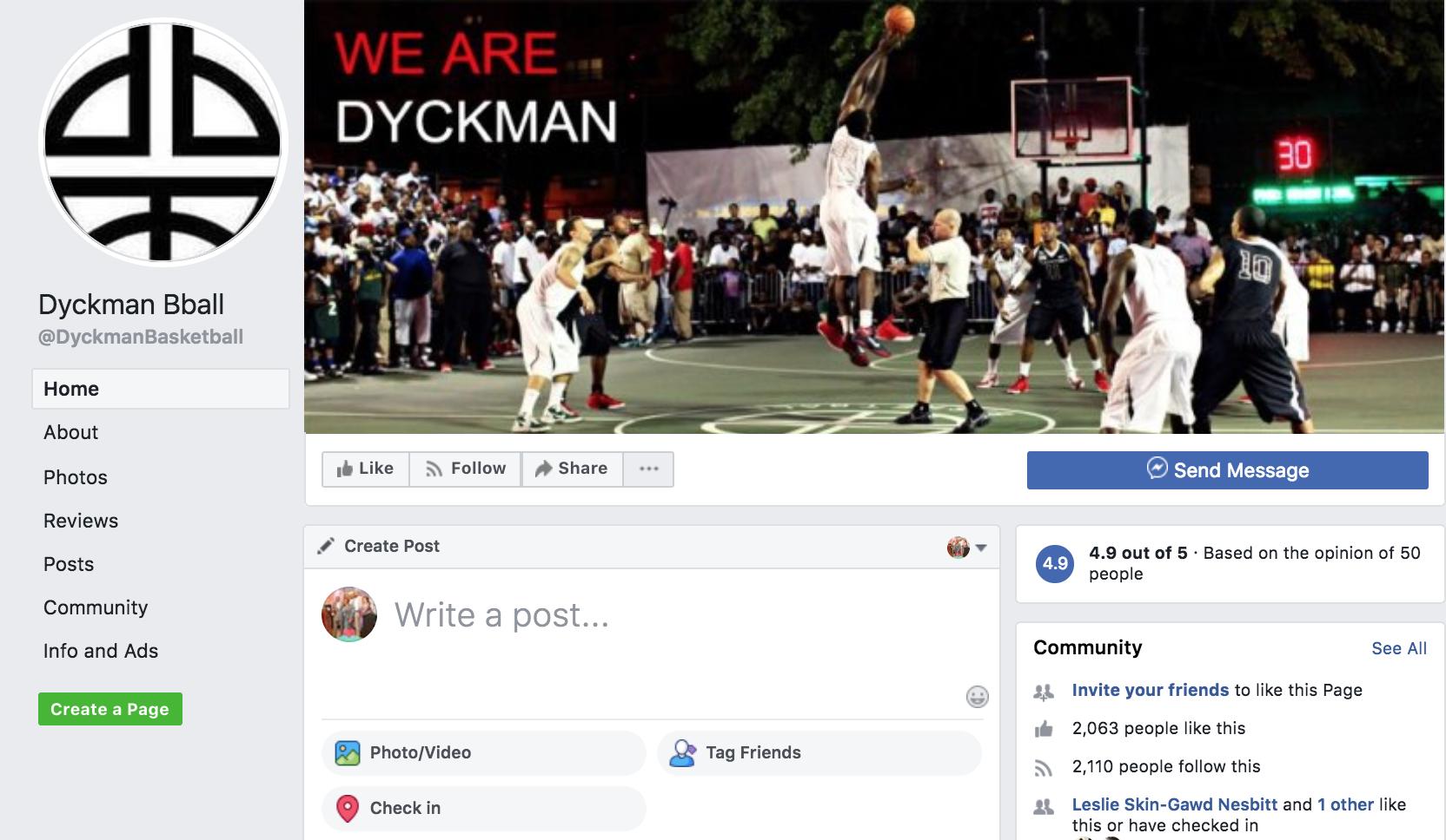 Dyckman Basketball Facebook