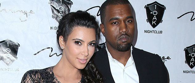 Rapper Kanye West and reality TV star Kim Kardashian