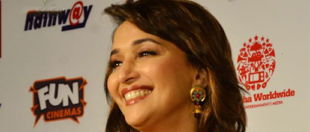 madhuri in bhopal promoting her upcoming film