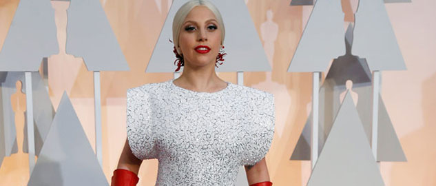 Lady Gaga's crystal embellished gown took 1600 hours to make