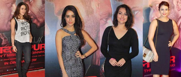 Preity Zinta and Sonakshi Sinha at the success bash of Badlapur.