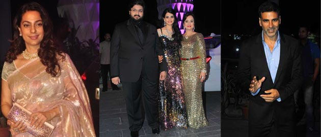 Bollywood stars at Rahul & Aditi Thackeray's wedding reception.