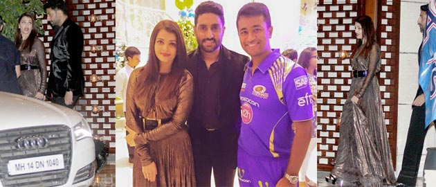 Aishwarya and Abhishek attend Ambanis' celebration bash for Mumbai Indians' IPL win