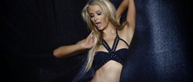 """Paris Hilton mixes up Madonna and 50 Shades of Grey in her """"very sexual"""" pop video"""