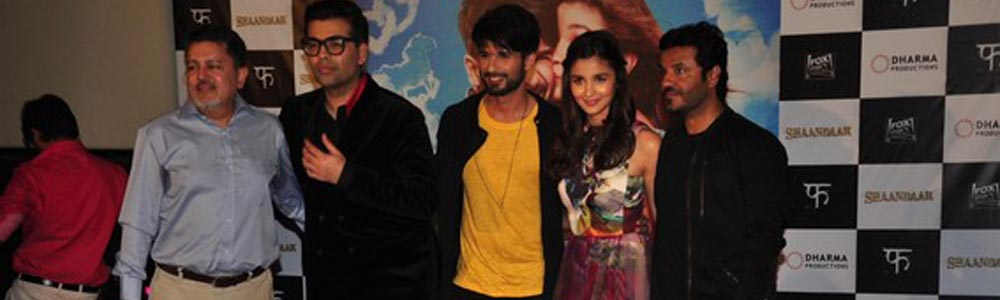 Shahid Kapoor and Alia at the Shandaar trailer launch