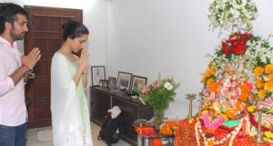 Aashiqui 2 actress Shraddha Kapoor Celebrates Ganesh Chaturthi with Family in Mumbai