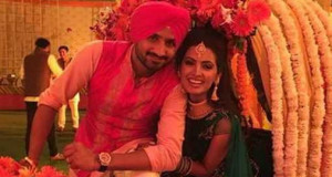 Harbhajan Singh Exchanges Wedding Rings With actress Geeta Basra
