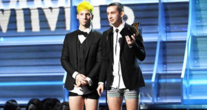 The Reason Why Twenty Pilots Accepted Their Grammy in Their Underwear!