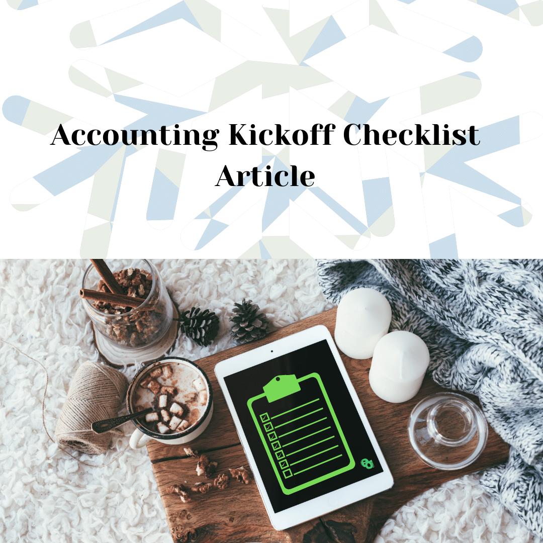 Accounting Kickoff Checklist