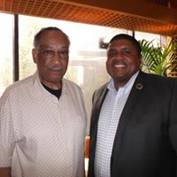 Dr. Lee Brown (left), known as the father of community policing, helped advise TAPS Academy during it's formulation. Pictured with TAPS co-founder, Dr. Everette Penn.