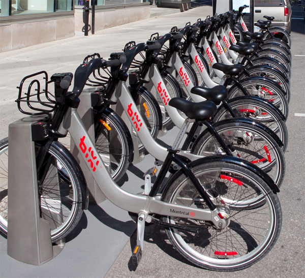 Bixi bikes. Creative commons. From flickr user pdbreen