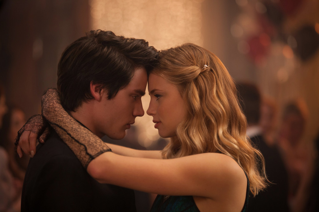 DOMINIC SHERWOOD and LUCY FRY star in VAMPIRE ACADEMY