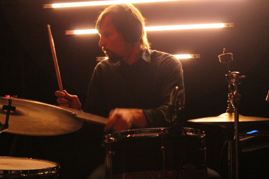 Lost in the Trees drummer. Photo Alisa Donkers.