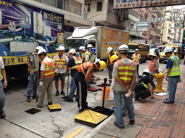 20 Men to Dig a Hole. Photo from Hello Hong Kong Bronwyn Has Landed
