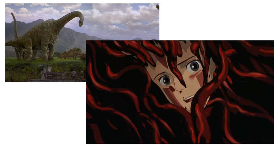 Softimage was used by ILM to animate the dinosaurs in Jurassic Park, and Studio Ghibli created the demon tentacles using the tool, later also for effects in subsequent films such as Spirited Away.
