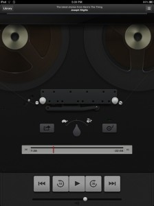 The mercifully short lived anachronistic podcast playback application on the iPad.