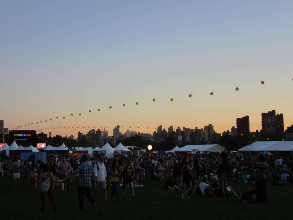 Sunset on Day one of Governor's Ball New York 2014. Photo by Robyn Homeniuk