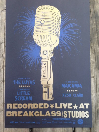 poster recorded live at breakgalass