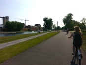 Riding along the Lachline Canal. Photo by Annie Shreeve