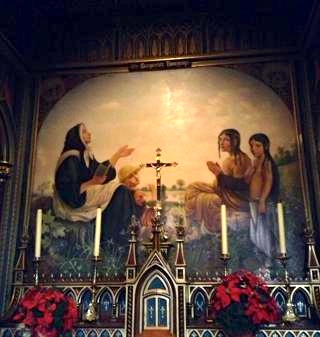 Artwork in the Notre Dame Basilica. Photo by Annie Shreeve