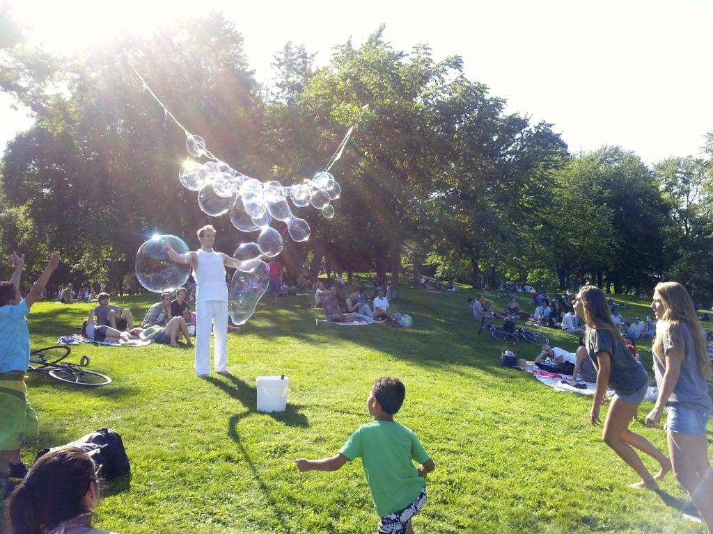 Blowing Bubbles! Photo by Annie Shreeve