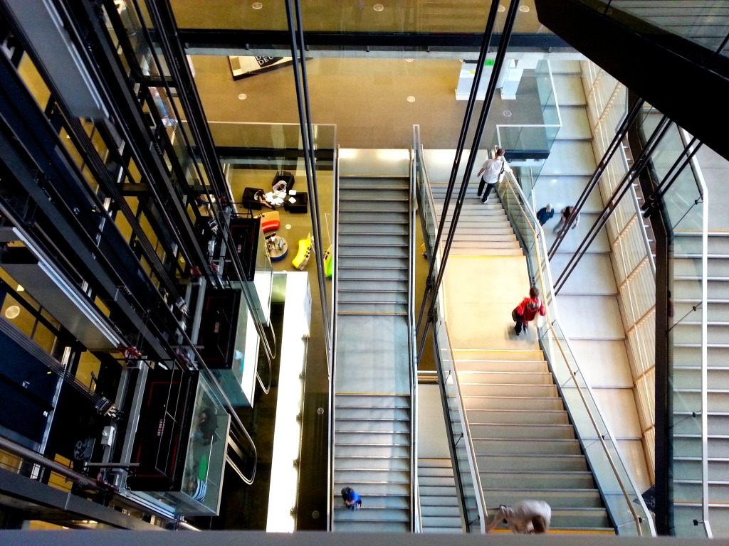 The amazing staircase inside the library. Photo by Annie Shreeve
