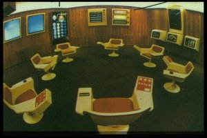The iconic Project Cybersyn control room