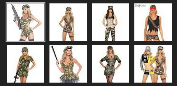 sexy soldier halloween costumes