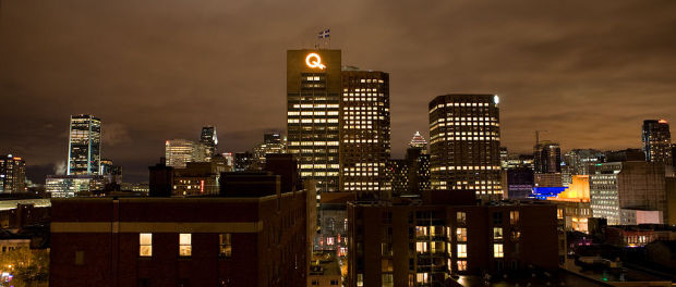 The Hydro Quebec building, an iconic building on the Montreal skyline. Photo by llahbocaj/Flickr.