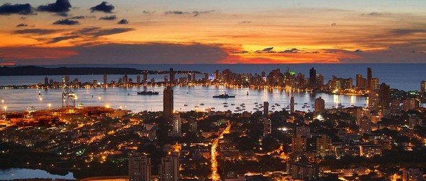 Sunset over the Cartagena Harbour. Photo courtesy Norma Gòmez/Flickr.