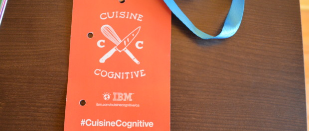 Pass card for Cognitive Cooking at the Auberge Saint-Gabriel. Photo courtesy Nicole Yeba.