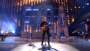 George Ezra performing at the 2015 Brit Awards. Photo by Robyn Homeniuk.