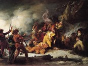 """""""The Death of General Montgomery in the Attack on Quebec, December 31, 1775"""" by John Trumbull, now in the Yale University Art Gallery."""