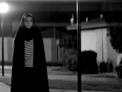 """Still of Sheila Vand in """"Poster for """"Still of Sheila Vand as the Girl in """"A Girl Walks Home Alone At Night""""."""