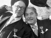 Eric Morecambe (1926-1984), left, and Ernie Wise (1925-1999), right, were Britain's double act from the 1960s to the 1980s. They each were awarded OBEs in 1976 (pictured). Photo credit: The Daily Telegraph Australia.