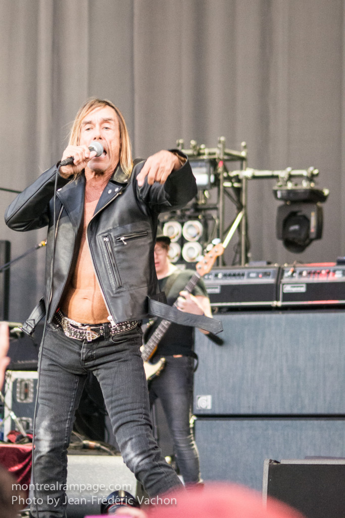 Iggy Pop at Heavy Montreal 2015 (Photo by Jean-Frederic Vachon)