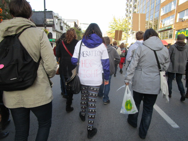 Generation Here to Fight. Missing and Murdered Aboriginal Women March and Vigil. Photo Rachel Levine