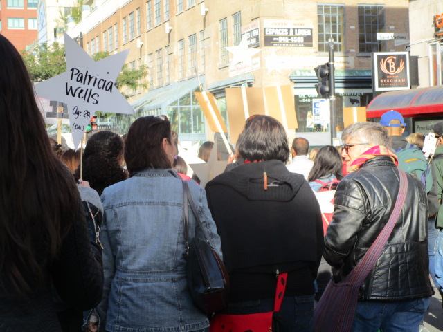 Patricia Wells. Missing and Murdered Women March. Photo Rachel Levine