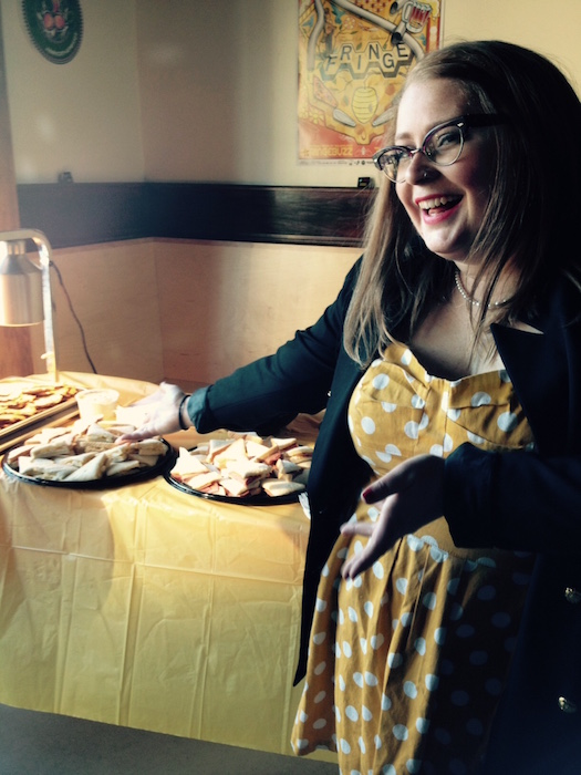 Holly Greco Feeds the Animals. Dispatches from the Fringe. Photo Angela Potvin.