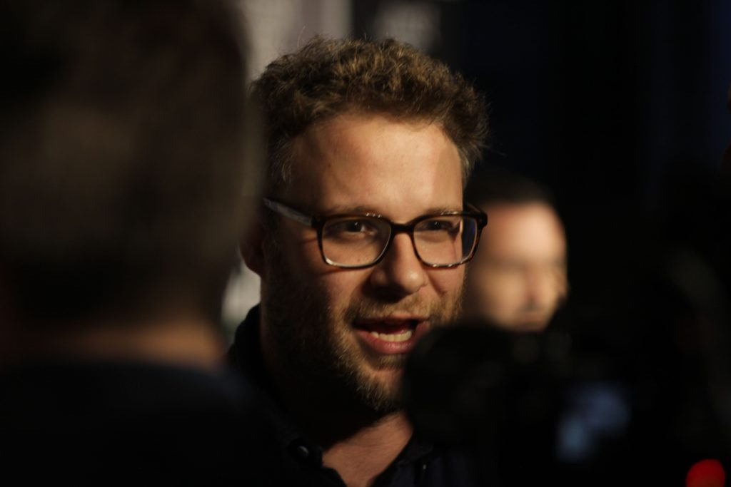 Seth Rogen at the Sausage Party premiere.