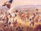 """""""The Victory of Montcalm's Troops at Carillon"""" by Henry Alexander Ogden, now in the Fort Ticonderoga Museum in New York. Photo credit: Wikimedia Commons."""