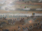 Artistic depiction of the Battle of Crysler's Farm by Adam Sherriff-Scott. Photo credit: Historica Dominion