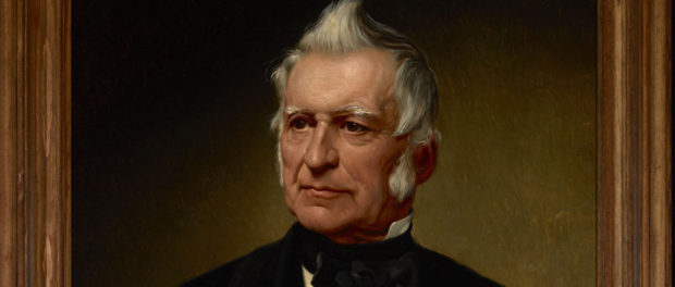 Detail of a portrait of Louis Joseph Papineau by Alfred Boisseau. Oil on canvas, 1872. Source: Library and Archives Canada/MIKAN Number: 2890428