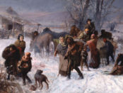 """""""The Underground Railroad"""", painting by Charles T. Webber. Source: Wikimedia Commons."""