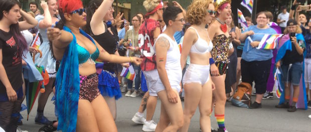 Rocky Horror Picture Show. Montreal Gay Pride Parade 2018. Photo Rachel Levine.