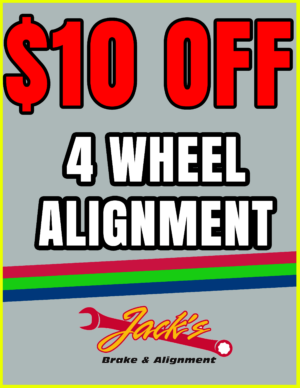 10 off a 4 wheel alignment