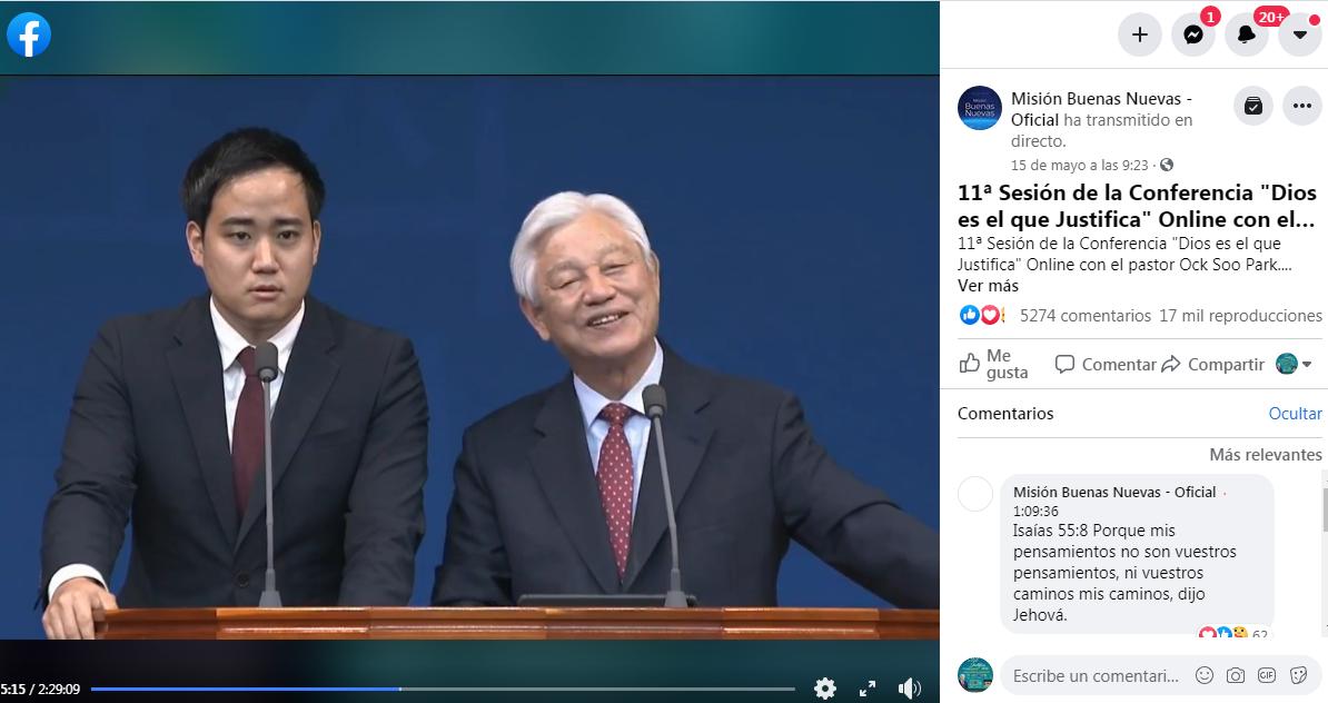 Transmisión por Facebook (Misión Buenas Nuevas Oficial)