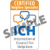 ICH Certification badge sample