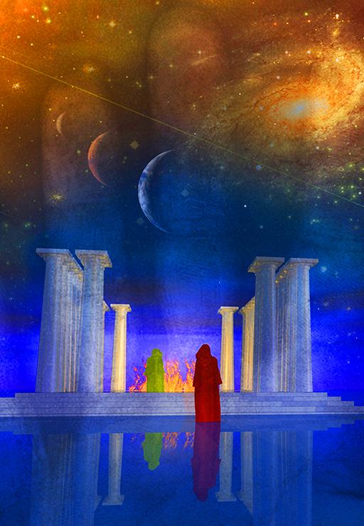 cosmic temple of light