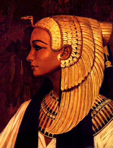 Isis with gold head dress